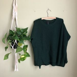 Forever 21 deep green knit sweater